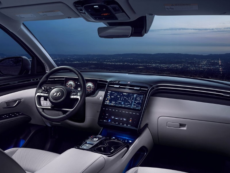 Step inside the 2022 Hyundai Tucson Hybrid near Fort Mill SC
