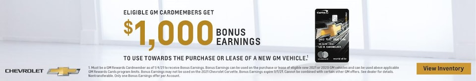 GM Cardmember Bonus