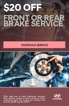 $20 Off Front or Rear Brake Service