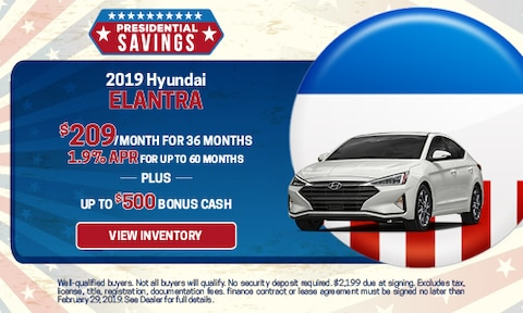 New 2019 Hyundai Elantra APR & Bonus Cash