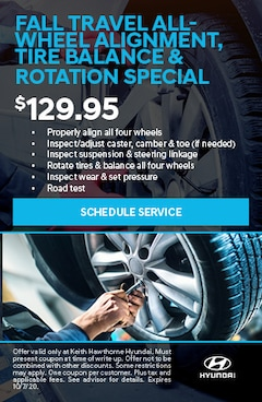 Fall Travel All-Wheel Alignment, Tire Balance and Rotation Special