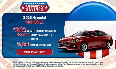 New 2018 Hyundai Sonata APR & Bonus Cash