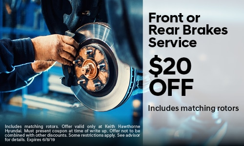 May 2019 Front or Rear Brake Special