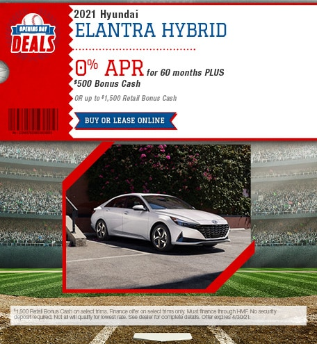 April 2021 Hyundai Elantra Hybrid