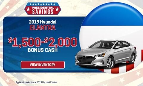 New 2019 Hyundai Elantra Bonus Cash