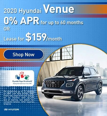 September 2020 Hyundai Venue