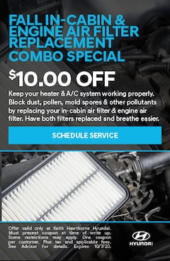 Fall In-Cabin Engine Air Filter Replacement Combo Special