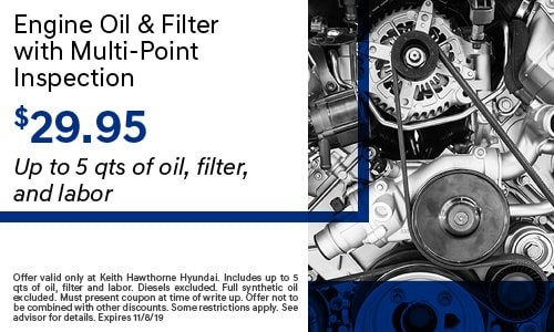 October | Engine Oil & Filter w/ Multi-Point Inspection