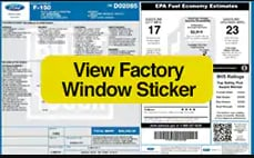 View Ford Window Sticker