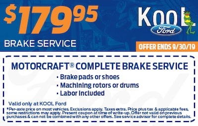 $179.95 or Less For Complete Brake Service
