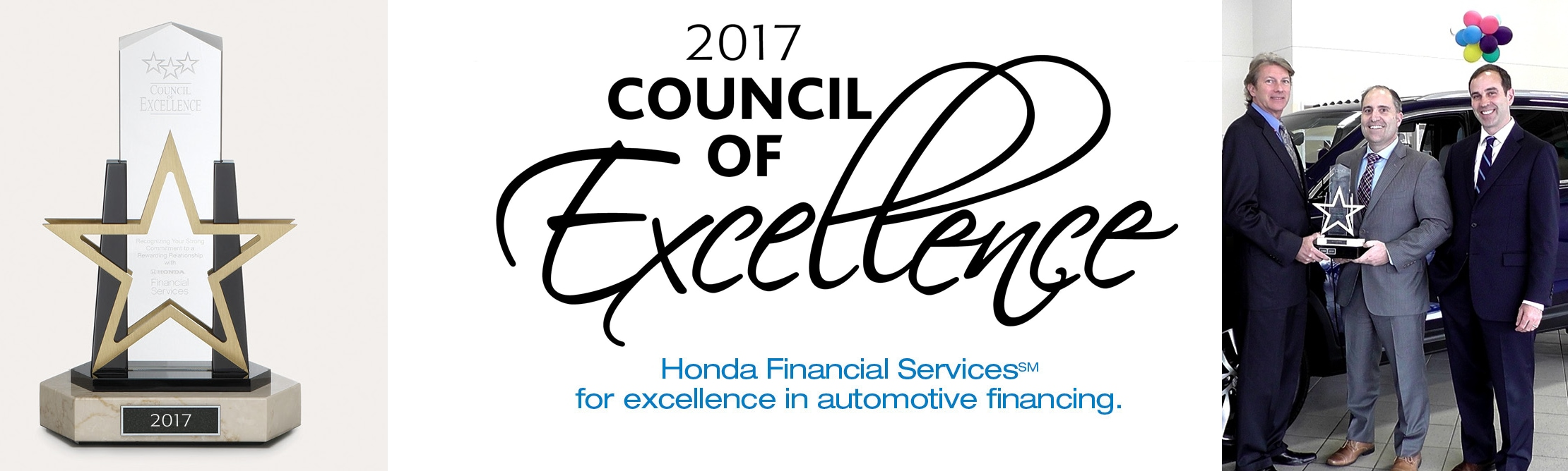Kelly Honda Named 2017 Council Of Excellence Award Winner