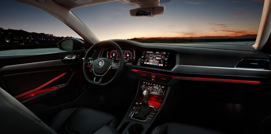Ambient lighting inside the new 2019 Volkswagen Jetta