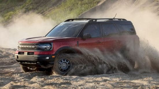 2021 Ford Bronco Sport Driving Through Mud