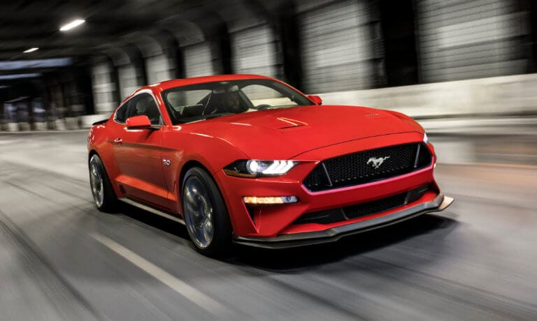 2021 Ford Mustang exterior driving in tunnel