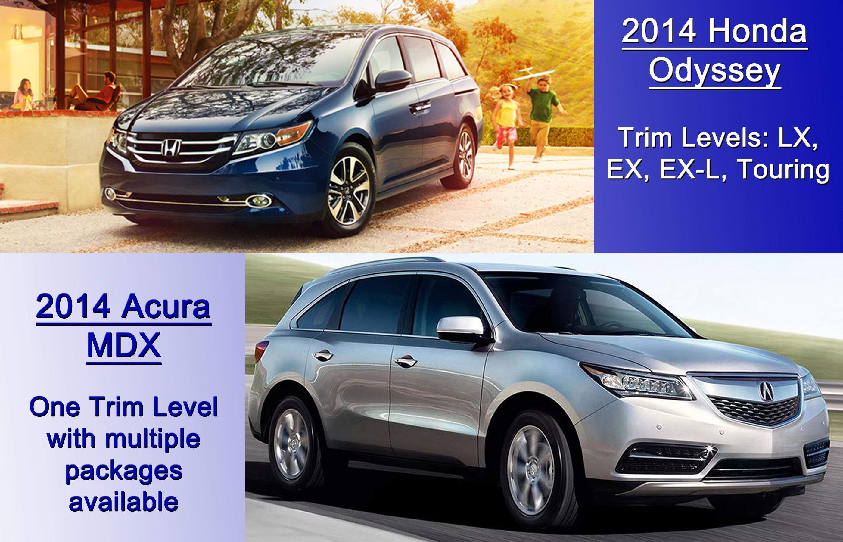2014 Honda Odyssey Vs 2014 Acura MDX
