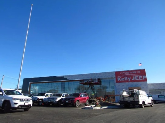 Exterior of New Kelly Jeep Chrysler Building Under Construction