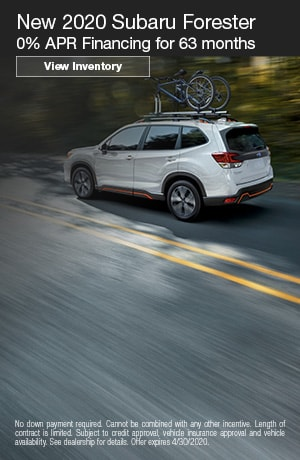 April New 2020 Subaru Forester Finance Offer