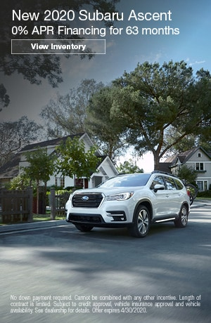 April New 2020 Subaru Ascent Finance Offer