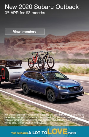 August New 2020 Subaru Outback Finance Offer