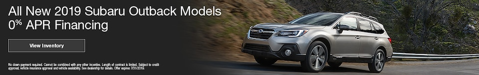 July 2019 Outback Finance Offer