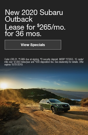 October New 2020 Subaru Outback Offers