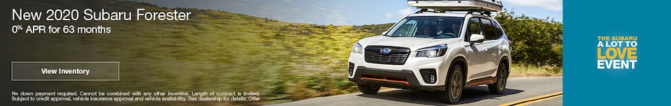 August New 2020 Subaru Forester Finance Offer