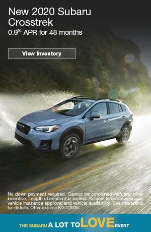 August New 2020 Subaru Crosstrek Finance Offer