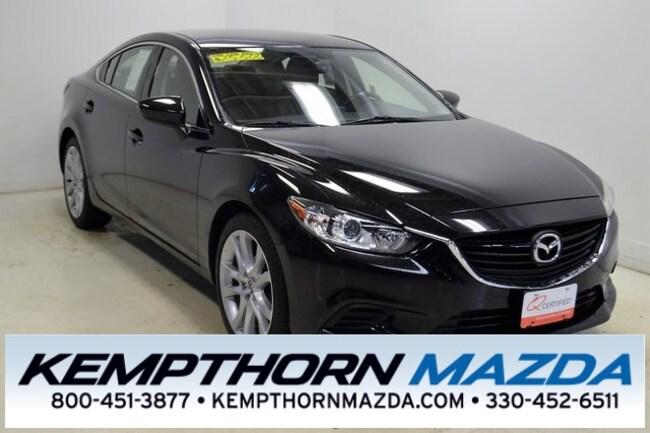 Certified pre-owned Mazda vehicles 2016 Mazda Mazda6 i Touring Sedan for sale near you in Canton, OH