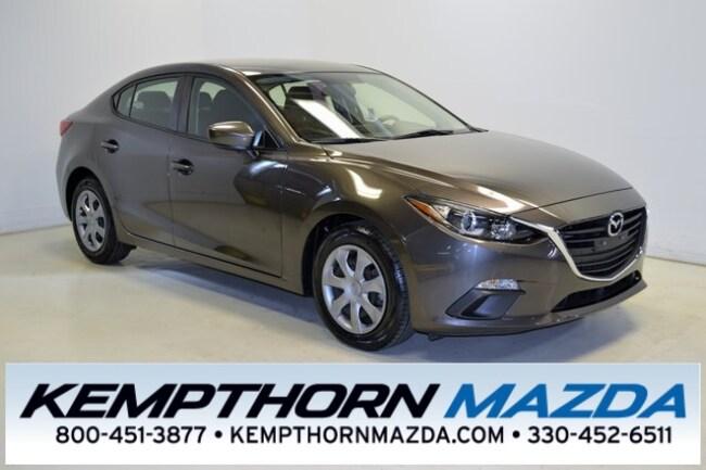 Certified pre-owned Mazda vehicles 2015 Mazda Mazda3 i Sedan for sale near you in Canton, OH
