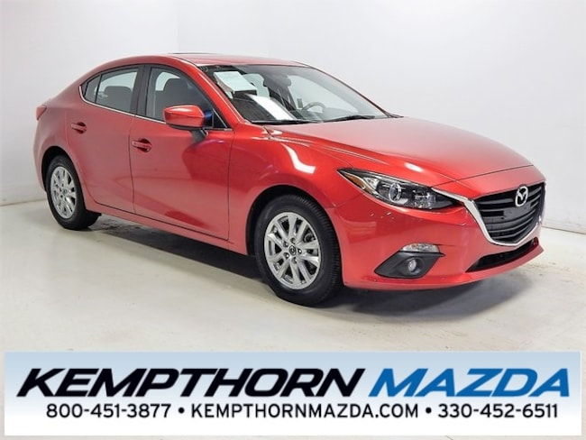 Certified pre-owned Mazda vehicles 2016 Mazda Mazda3 i Sedan for sale near you in Canton, OH
