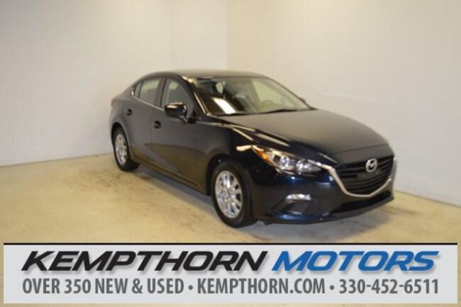 Certified pre-owned Mazda vehicles 2014 Mazda Mazda3 i Sedan for sale near you in Canton, OH