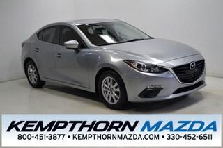 Certified pre-owned Mazda cars 2014 Mazda Mazda3 i Sedan for sale near you in Canton, OH
