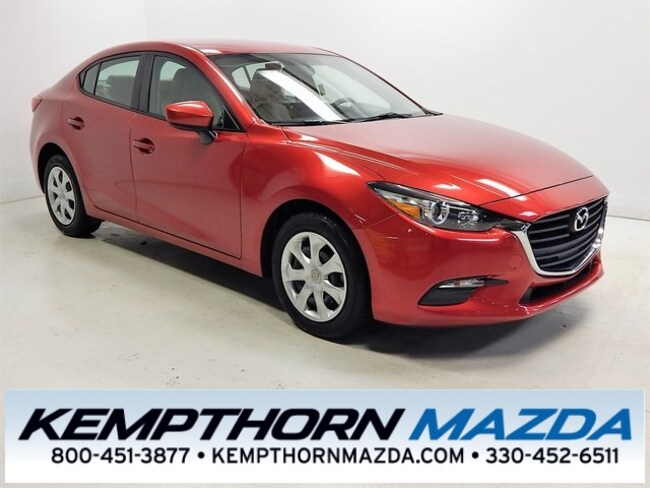Certified pre-owned Mazda vehicles 2017 Mazda Mazda3 Sport Sedan for sale near you in Canton, OH