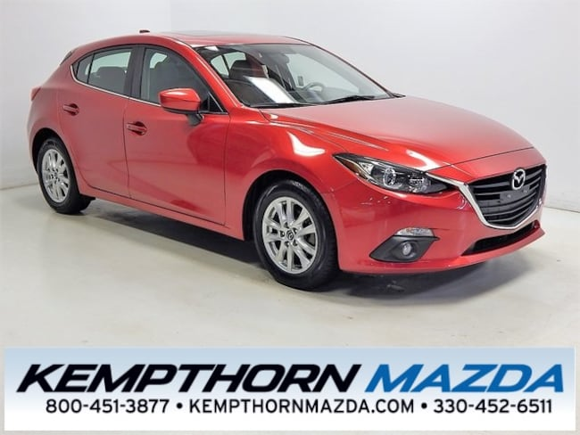 Certified pre-owned Mazda vehicles 2015 Mazda Mazda3 i Hatchback for sale near you in Canton, OH