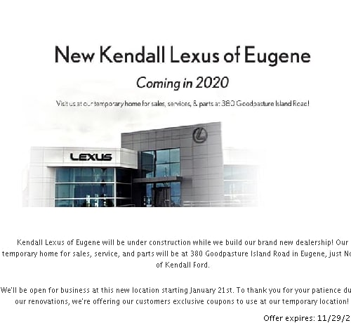 PARTS SPECIALS AND COUPONS | Kendall Lexus of Eugene