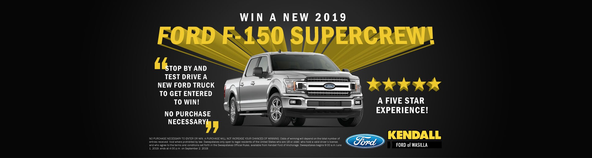 win a free ford f-150 truck