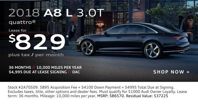 New Audi Vehicle Specials At Audi Lehi In Utah - Audi zero down lease