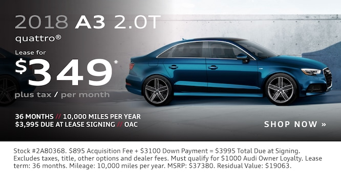 New Audi Vehicle Specials At Audi Lehi In Utah - Audi a3 lease offers