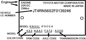 Toyota Vehicle Identification Label Hamer Toyota in Mission Hills Los Angeles County