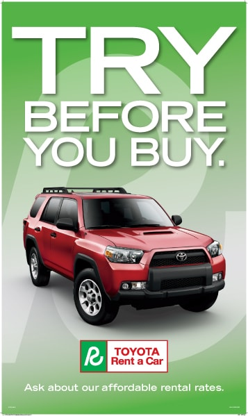 Hamer Toyota Rental Cars - Try Before You Buy