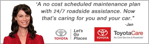 ToyotaCare No Cost Maintenance Plan At Hamer Toyota