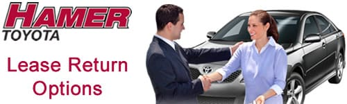 Toyota Lease Return Options at Hamer Toyota