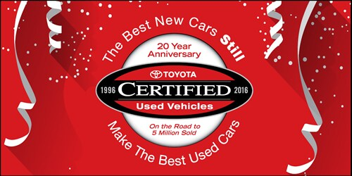 Toyota Certified Used Vehicle Anniversary Logo at Hamer Toyota id=