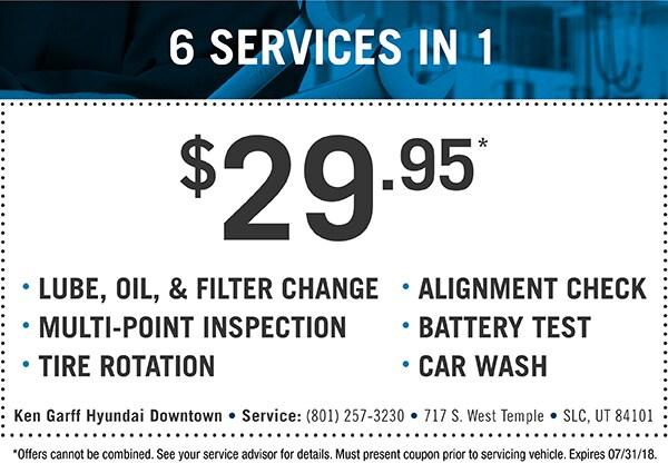 Service Oil Change Coupons Salt Lake City Ken Garff Hyundai