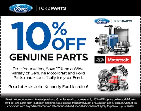 10% OFF YOUR OVER-THE-COUNTER PARTS PURCHASE