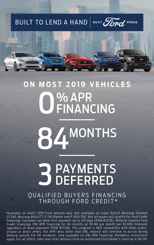 0% APR Financing for 84 Months Plus Get 3 Payments Deferred