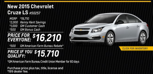 Cruze Offer from Kenny Kent Chevrolet