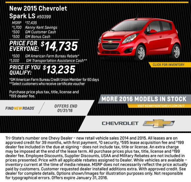 Spark Offer from Kenny Kent Chevrolet