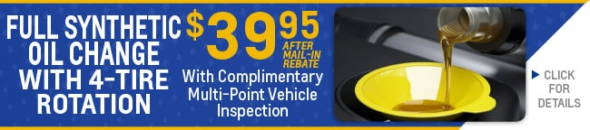 Oil Change & Lubrication Coupon, Evansville