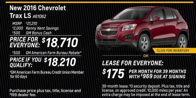 Trax Offer from Kenny Kent Chevrolet